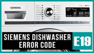 Siemens dishwasher e19 error code