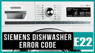 Siemens dishwasher e22 error code