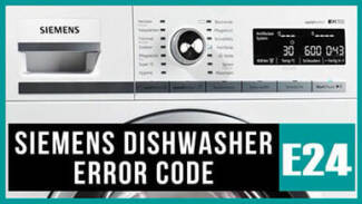 Siemens dishwasher e24 error code