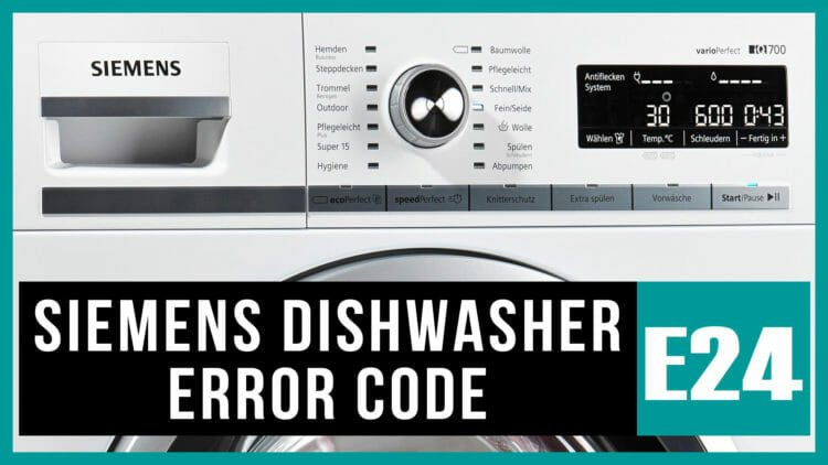 Siemens dishwasher error code e24