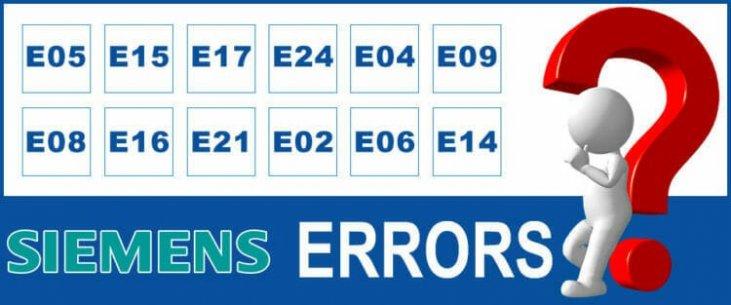 e22 siemens fehler