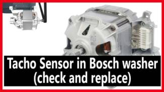 Tacho Sensor in Bosch washer (check and replace)