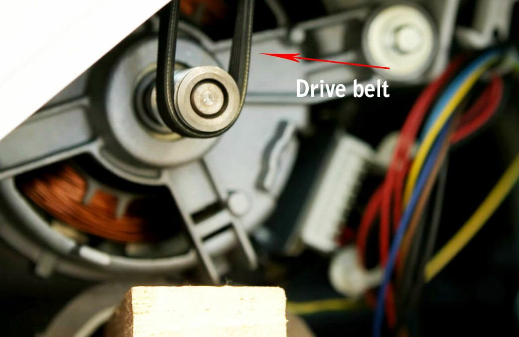 Weakened drive belt in washer Samsung