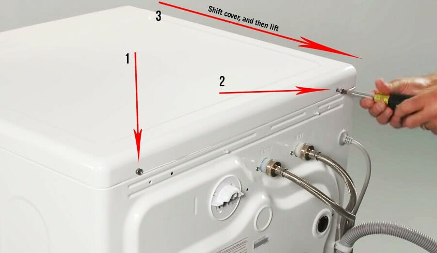 how to remove the cover Samsung washer