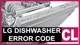 LG dishwasher error code CL