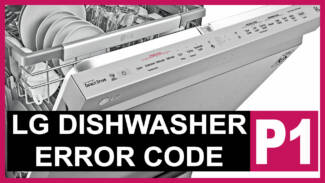 LG dishwasher error code p1