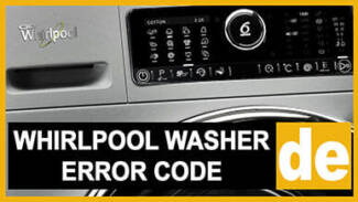 Whirlpool washer de error code