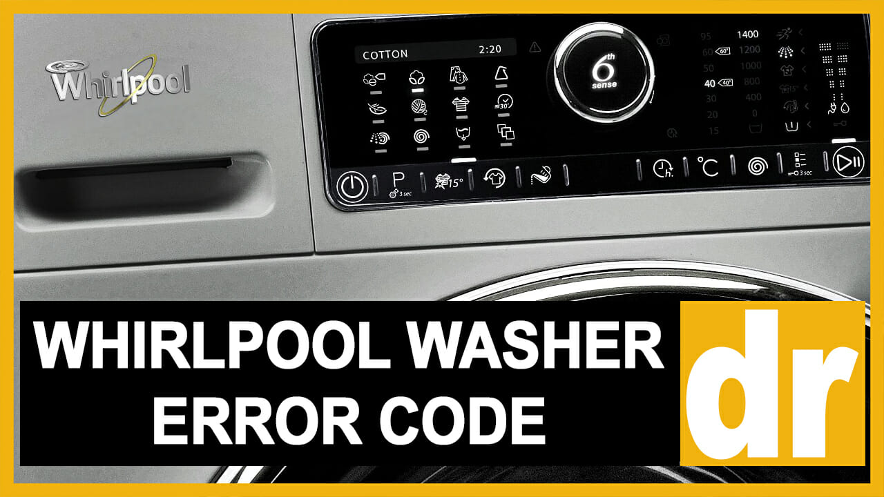 Whirlpool washer error code dr