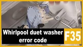 Whirlpool duet washer f35 error