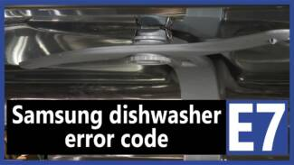 Samsung dishwasher error code 7e
