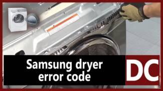 Samsung dryer error code DC