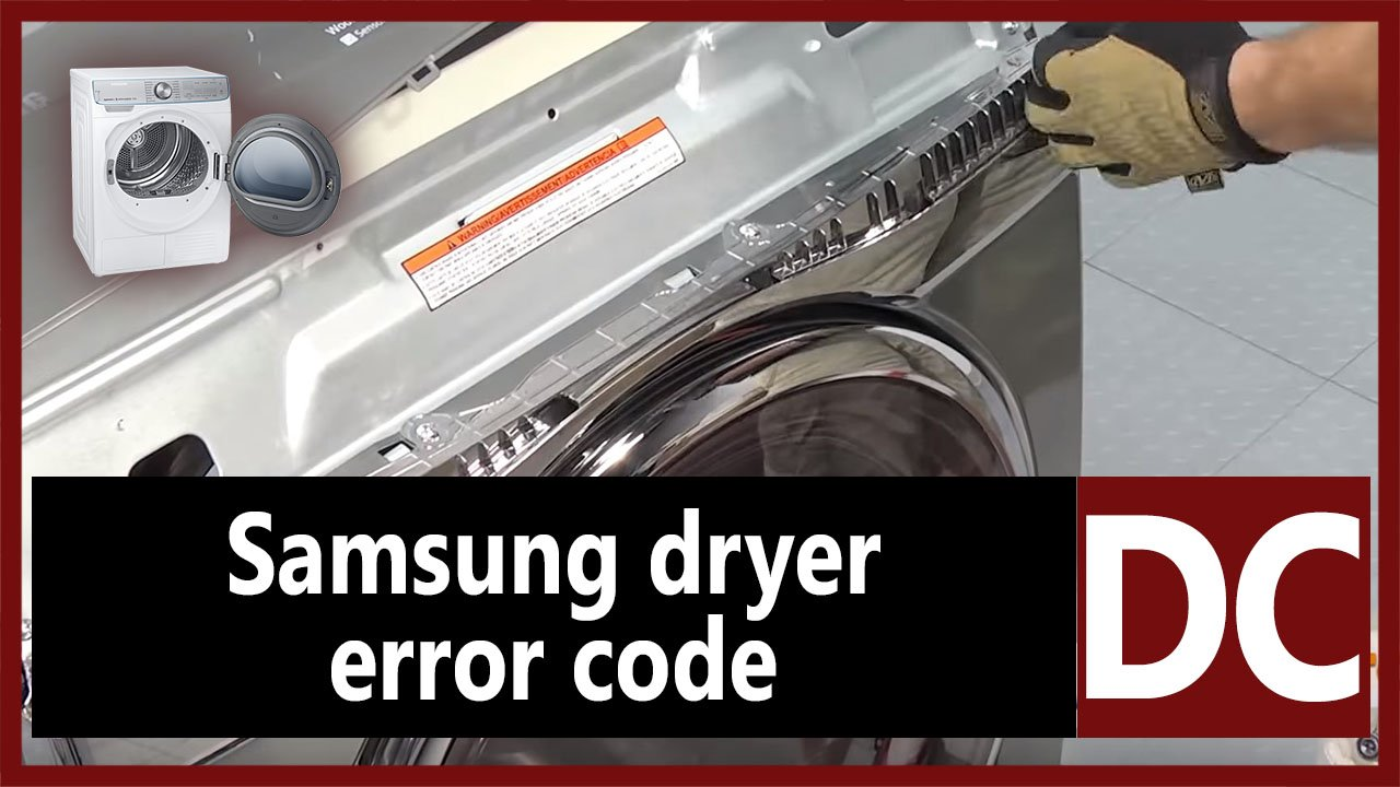 Samsung dryer error code DC