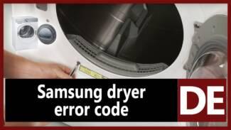 Samsung dryer error code DE