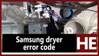 Samsung dryer error code HE