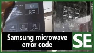 Samsung microwave SE error code