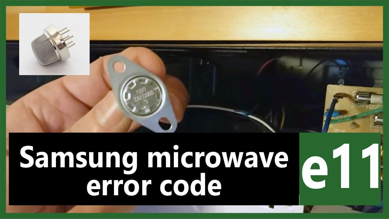 samsung microwave error code e11