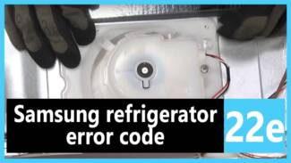 Samsung refrigerator error code 22 e