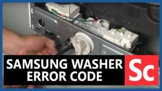 Samsung washer error code SC