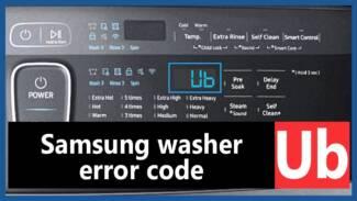 Samsung washer error code ub