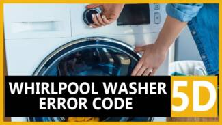 5d error code Whirlpool washer