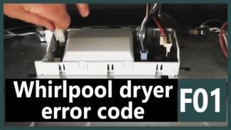 F01 error code Whirlpool dryer