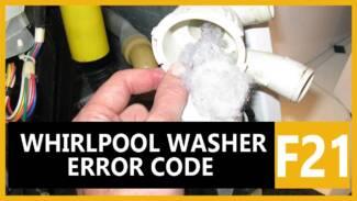 F21 error code Whirlpool washer