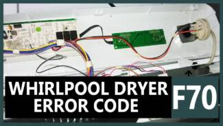 F70 error code Whirlpool dryer