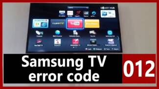 Samsung TV error code 012