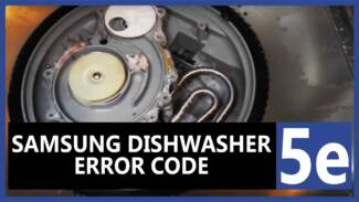 Samsung dishwasher 5e error code