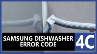Samsung dishwasher error code 4c