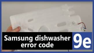 Samsung dishwasher error code 9e