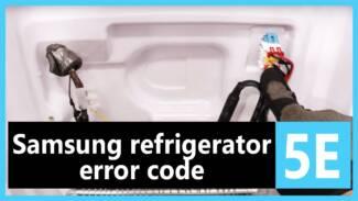 Samsung refrigerator error code 5e