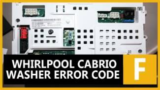Whirlpool Cabrio washer error code f