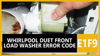 Whirlpool duet front load washer error code E1 F9