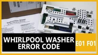 Whirlpool washer error code E01 F01