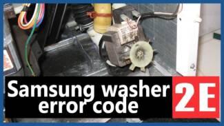 Samsung washer 2e error code