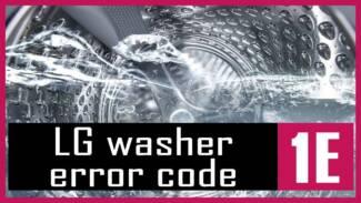 LG washer error code 1E