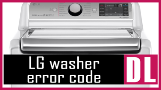 LG washer error code DL