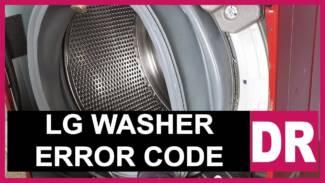 LG washer error code DR