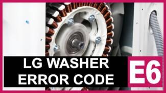 LG washer error code E6